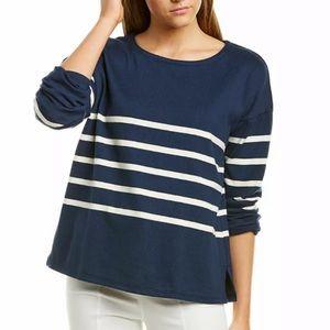 NNWT Eileen Fisher Organic Cotton Stripe Sweater